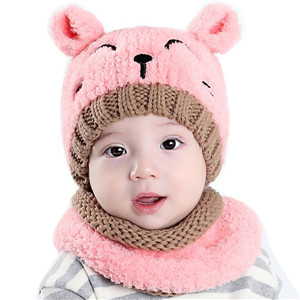 Kfnire Toddlers Baby Boys Girls Infant Winter Earflap Knitted Warm ... c92f59ea6023