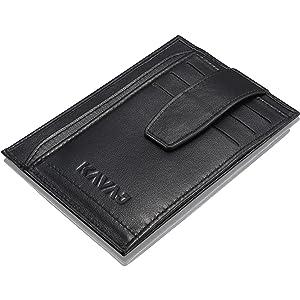 Money Clip Slim Wallet-EGRD Carbon Fiber Front Pocket Minimalist Wallet For Men Carbon Fiber Wallet EGRD Minimalist Front Pocket Slim Wallet Business Card Holder RFID Blocking Credit Card Holder For Men Upgraded Version