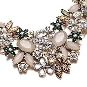 3083c479f Fsmiling Vintage Gold Tone Collar Chain Sparkly Crystal Choker Necklace For  Party