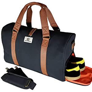 Chad Hayward   Co Adam Sports Duffle Holdall Bag with Shoe Compartment For Travel  Gym Weekend Overnight - 34L (Available in x2 colours - black   navy) c667721cce00a
