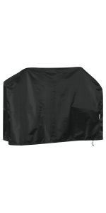 Waterproof breathable and UV stabilised B.PRIME protective garden furniture cover 200x160x70cm Premium cover made from 210D black Oxford polyester fabric