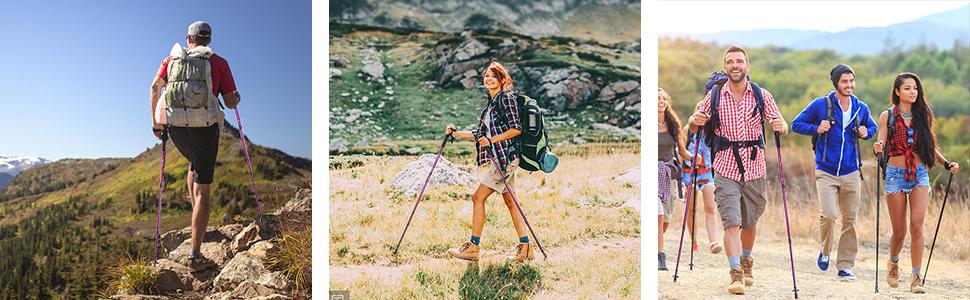 hiking sticks camping