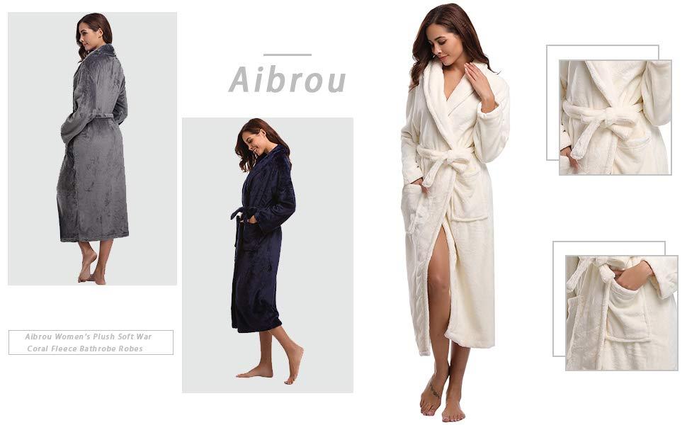 fe5af20232 Robe. Aibrou Ladies Coral Fleece Bathrobe