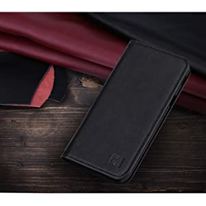 Samsung Galaxy J3 (2017) UK 'Classic Series' real leather wallet case cover available in Black