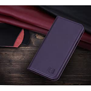 Samsung Galaxy J3 (2017) UK 'Classic Series' real leather wallet case cover available in Aubergine