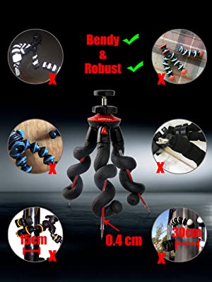 iphone bendy tripod robust camera holder flexible smartphone clamp dslr sony nikon camcorder tripod