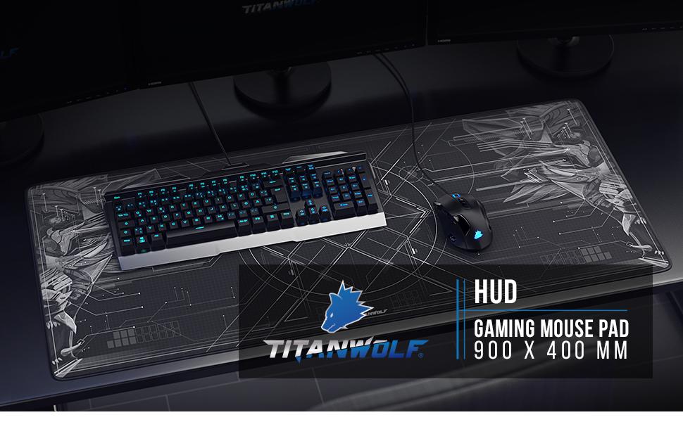 titanwolf 900x400  Titanwolf XXL Speed Gaming Mouse Mat | Mouse Pad 900 x: Amazon. ...