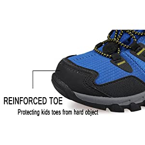reinforced toe can protect kids toes from hard object