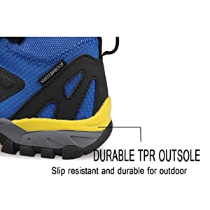 TPR outsole featuring with better slip resistance and durability