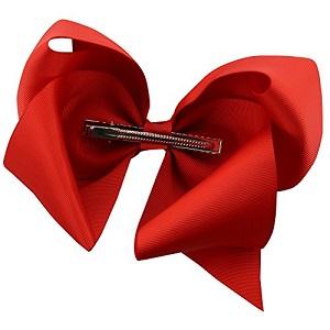 QtGirl 12pcs 20cm Large Hair Bows Grosgrain Ribbon