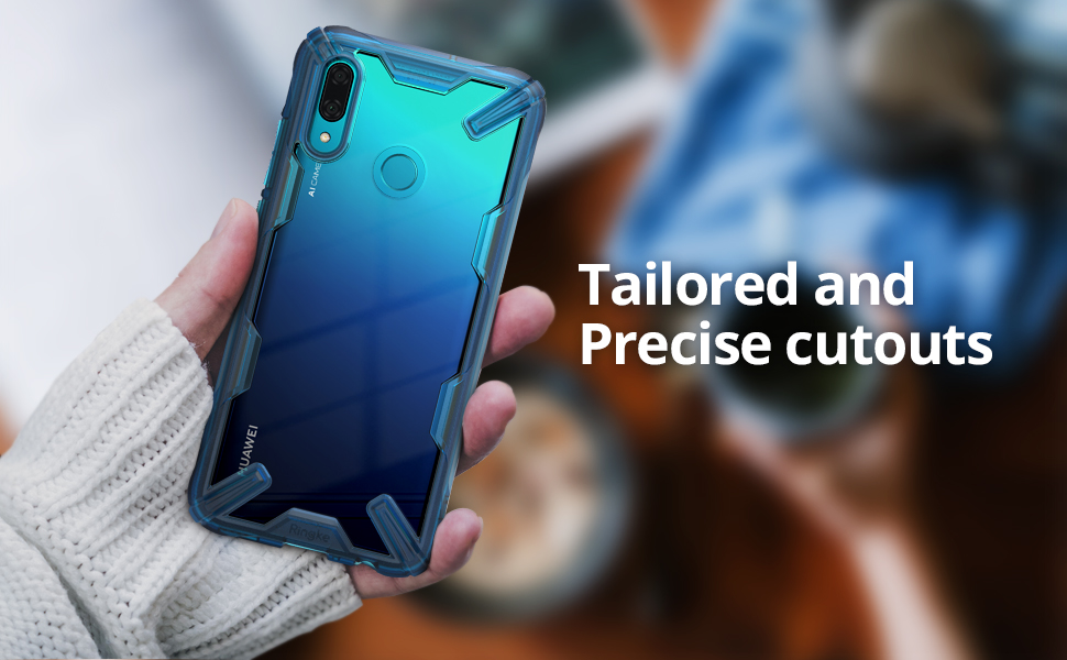 Ringke Fusion-X Case for Huawei P Smart 2019 Clear Shockproof Cover - Space Blue