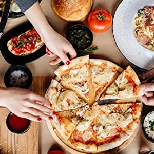 Pizza stone grill oven baked italian pizzas crispy authentic bbq kettle weber pizzastone