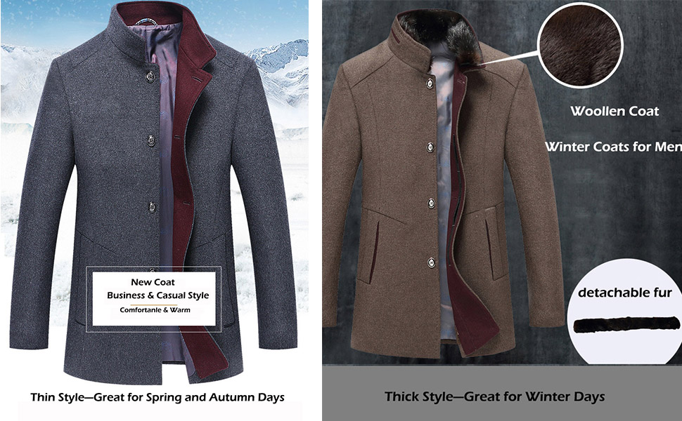 Back To Search Resultsmen's Clothing Brave 2018 New Mens Woolen Coats With Stand Collar Men Autumn Winter Mens Thicken Wool Windbreakers M-3xl Top Designer Overcoats Man