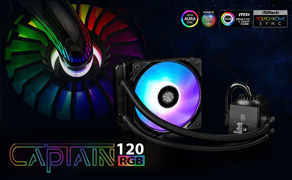 DEEPCOOL Liquid CPU Cooler, Gamer Storm Captain 120 RGB FAN