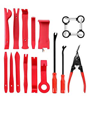 Home Trend Mark 22pcs Set Car Metal Plastic Car Auto Trim Removal Tool Audio Speaker Door Panel Open Molding Set Kit Pouch Pry Tool Hand Tools