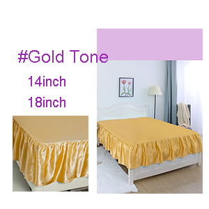 18 Drop sourcing map Satin Silk Bed Skirt 300 Thread-Count Dust Ruffle Wrinkle Free Bedskirt Dust RuffleEasy to Put on Gold Tone King