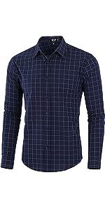 Windowpane pattern,Point Collar, Button Down,Dress Shirt
