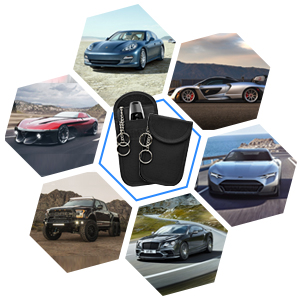 BMOSTE 2 X Car Key Signal Blocker Pouch Faraday Pouch for Car Keys keyless Car Key Signal Blocker Case Signal Blocking Pouch for Car Keys/& Credit Cards RFID Blocker Oxford Cloth