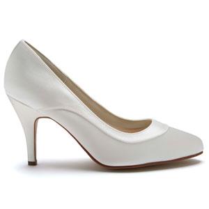 f8a6a7f9c80 Rainbow Club Nicole - Elegant Wedding Court Shoes Ivory Satin ...