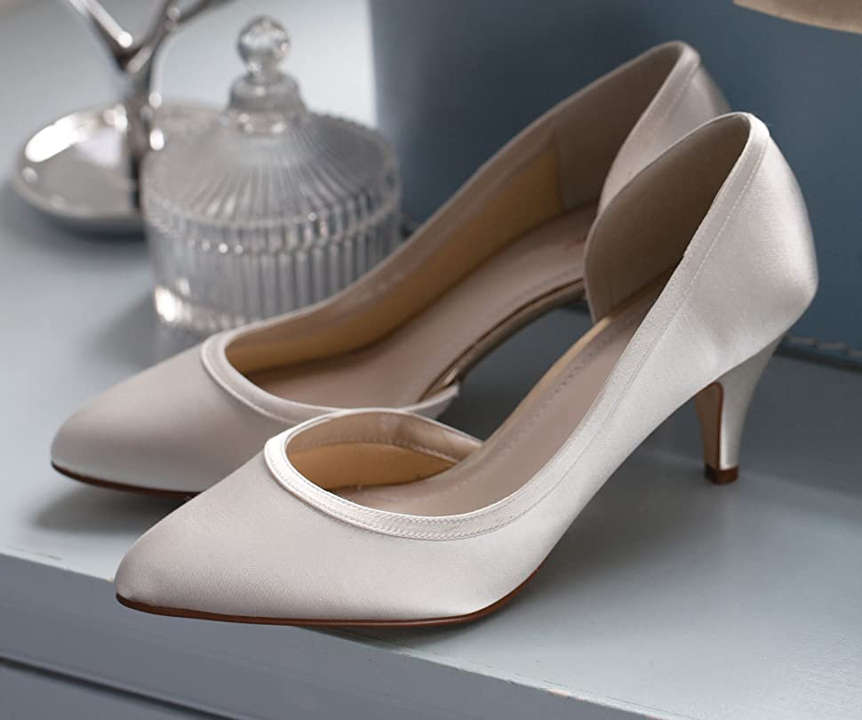 81bbc6996d782 Abbie by Rainbow Club. Abbie is a graceful three-quarter cut court shoe  crafted from beautiful ivory satin.