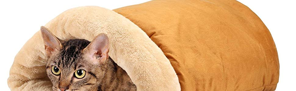 Soft Comfy House Pyramid Pet Sleeping Bag Snuggle Sack Hideaway kitty cold bottom noise crinkly warm