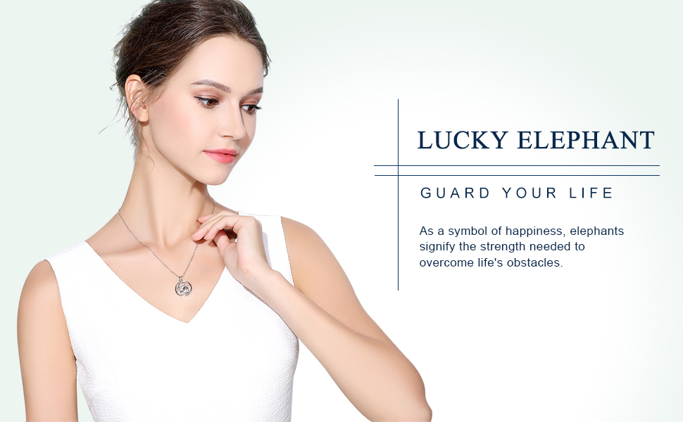 Lucky elephant silver necklaces model by aeonslove--