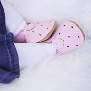 Dotty Fish, leather baby shoes, soft sole shoes, baby girl, toddler girl, pram shoes, first shoes