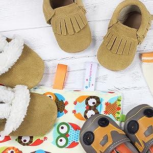 849bac352ca8 Dotty Fish, cosy fleece lined slippers, kids slippers, baby slippers,  toddler slippers
