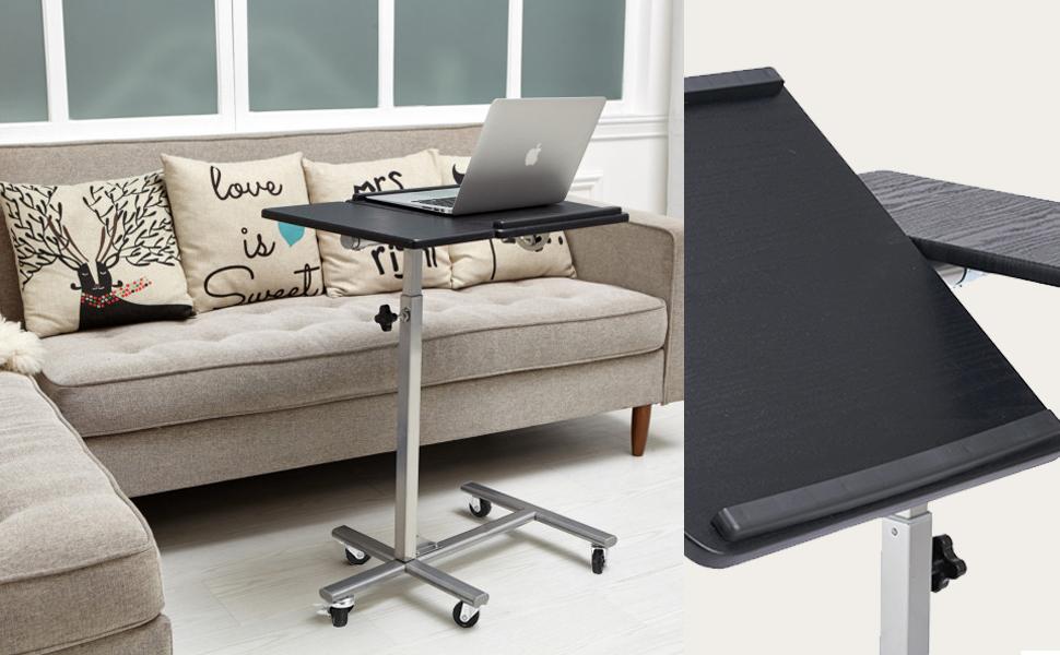 Adjustable Laptop Desk Overbed Table Sofa Table Coavas 5 Adjustable Height Sturdy Laptop Desk