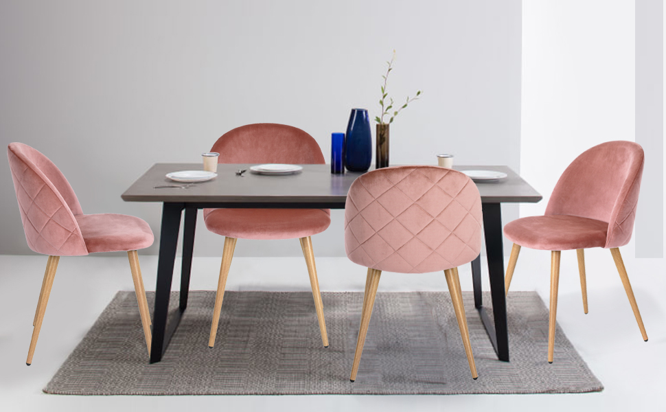 Velvet Dining Chairs Part - 39: The Coavas Velvet Dining Chairs Can Be Used In The Dining Room, Kitchen  Room, Living Room, Guest Room, Vacation House As A Reading Chair, Tea  Corner Chair ...