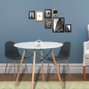 office conference table design. Features Of Cream White Round Kitchen Dining Table/ Coffee Wooden Tea Office Conference Living Room Modern Table: Table Design