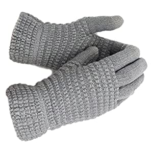 Thick Warm Wool Touch Screen Windproof Gloves