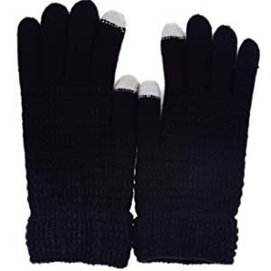 cycling winter knitted mens gloves