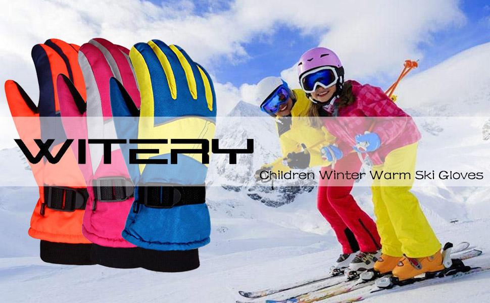 Mountain Warehouse Kids Waterproof Ski Gloves- Lightweight Girls /& Boys Gloves Warm /& Cosy Childrens Glove Easy Care Best for Skiing Snowboarding in Winter