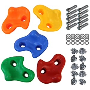 Colour:Mixed Colours 15 or 20 Childrens climbing holds climbing rocks for climbing wall varied includes mounting material ALPIDEX 5 10 Packing Unit:10 pieces