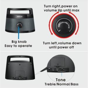 big knob, easy operation