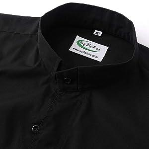 IvyRobes Camisa Cura de Clero de Manga Larga para Hombre Camisa Alzacuellos con Cuello de Lengüeta Ropa Sacerdote: Amazon.es: Ropa y accesorios