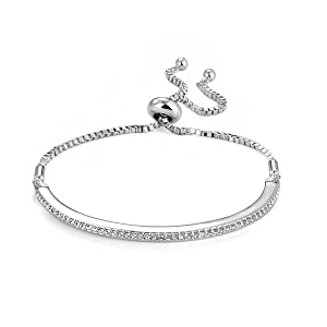 Silver Friendship Set with Crystals from Swarovski