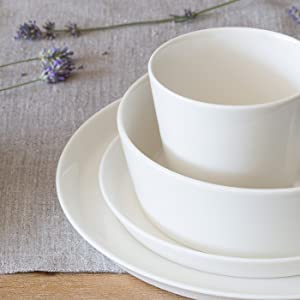Porcelain Tableware Set Svea High Quality Round Tableware Set In