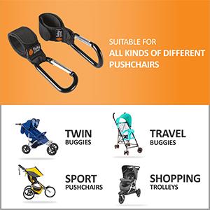 stroller hooks for prams, buggy bag hook, buggy carabiner, carabiner pram, buggy shopping bag clips