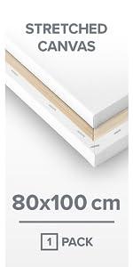 80 x 100 cm sträckt kanvas