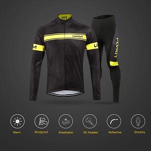 Lixada Men's Long Cycling Suit