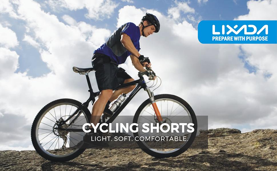 Lixada Men s Bicycle Shorts ,Breathable Mountain Bike Shorts ... 6ad208112