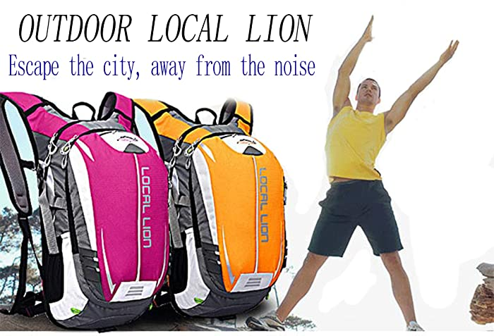 9180c6260d77 LOCAL LION OUTDOOR Unisex 18L Outdoor Sports Hiking Daypack Cycling  Backpack Bag