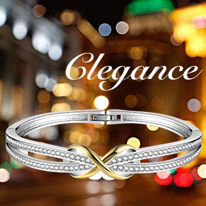 "Angelady""Forever and Ever""Silver Infinity Ladies Bracelets"