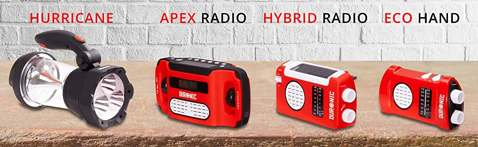duronic, hybrid, radio, am, fm, crank, wind, up, usb, solar, charge, rechargeable, camping, digital