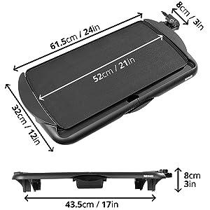 large, medium, size, grill, tray, pan, griddle, plancha, teppanyaki, traditional, aluminium, heat