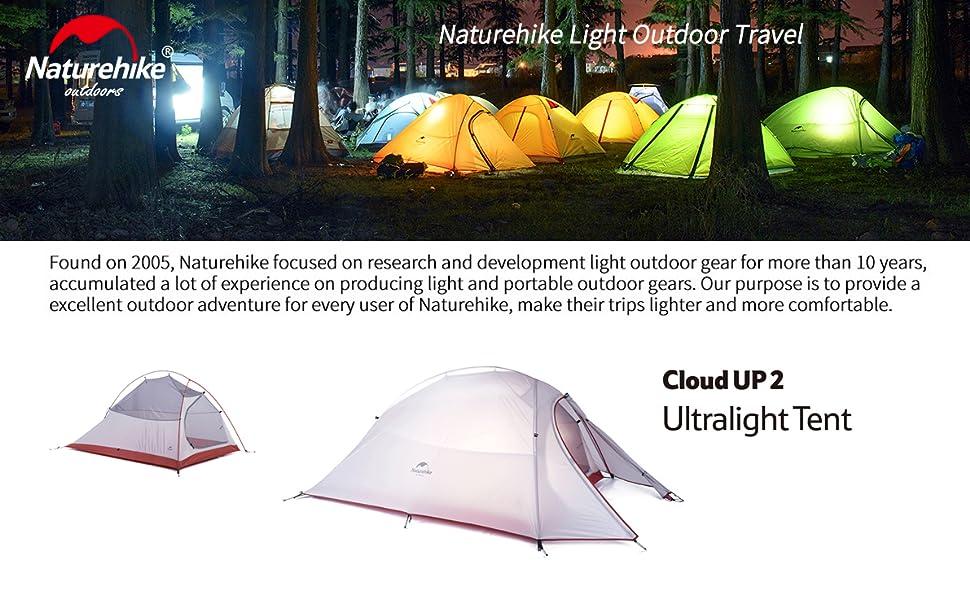 Naturehike Tienda de campaña Cloud Up 2 Persona Tienda de ...