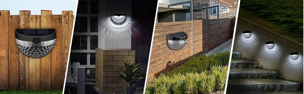 Litom Solar Fence Lights Decorative Lights Led Garden