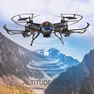 3-Holy Stone Drone with HD Camera F181C RC Quadcopter RTF 4 Channel 2.4GHz 6-Gyro